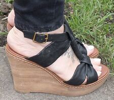 Aldo Wedge 100% Leather Sandals & Beach Shoes for Women