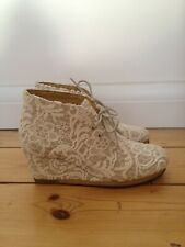 Limited edition Clarks x American Vintage lace Yarra desert wedge boots UK4 37D