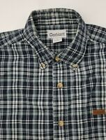 Carhartt Men's Blue Plaid Short Sleeve Button Down Shirt Size L Large