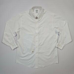 Brooks Brothers Men's White Non-Iron regular Fit Shirt Large 16.5 No. 11294