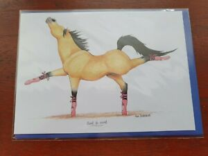 Alex Underdown Point to Point BLANK greetings card Horse race funny card horses