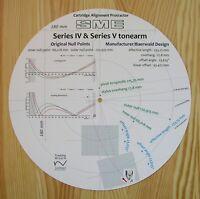 SME Series IV & SME Series V Custom Designed Tonearm Alignment Protractor