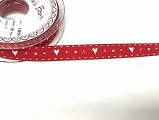 Selection of Love Hearts Ribbon Valentines Day Ribbons Gift Wrapping 1,3,5 Metre