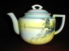 Japanese Porcelain Tashiro Shoten Scenic Design Holland Dutch Windmill Teapot