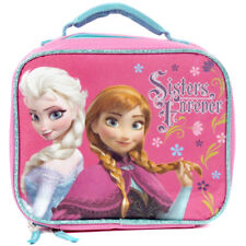 Sale - Disney Frozen Sisters Forever Elsa & Anna Pink School Lunch Box Bag Tote