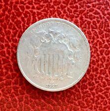 Etats-Unis - U.S.A. -  Jolie  monnaie de  5 Cents  1867