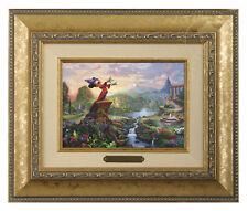 Thomas Kinkade Disney's Fantasia Framed Brushwork (Gold Frame)