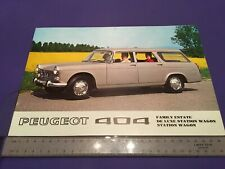 Peugeot 404 Estate & Station Wagon Brochure 1970 - UK Issue