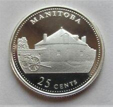 1992 CANADA  COMMERATIVE QUARTER MANITOBA