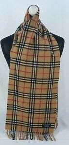 BURBERRY SCARF 100% LAMBSWOOL FOR MEN AND WOMEN MADE IN ENGLAND BEIGE FR