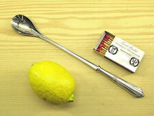Limonadenlöffel Barlöffel CROMARGAN WMF 900 Fächermuster 0/1 versilbert *0150b