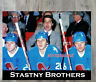 NHL Quebec Nordiques Stastny Brothers on the Bench Color 8 X 10 Photo Picture