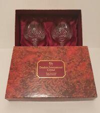 More details for pair of doulton international crystal hellene brandy schooner glasses boxed new