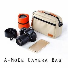 khaki  Small Soft Padded Camera Equipment Bag Case insert for DSLR for sony fuji