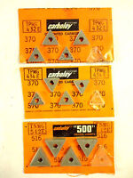 Carboloy Carbide Inserts 12 Pcs, Negative and Positive Rake NEW.