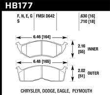 Hawk HPS+ Front Brake Pads For 95-99 Dodge/Plymouth Neon #HB177N.630