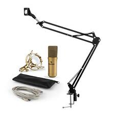 auna MIC-900G USB set microphone V3 condensateur + perchette cardioïde LED or