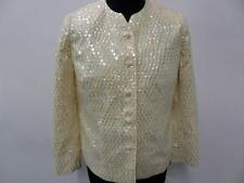 "Sequin jacket WOMENS Light yellow Size 12 36"" Very good SKU NO Wb145"