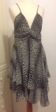 Roberto Cavalli at H&M Kleid Seidenkleid dress silk Leoparden Design EUR 36 US 6