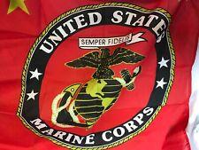 "United States Marine Corps Semper Fidelis Banner Flag 3'5"" X 2'4.5"""