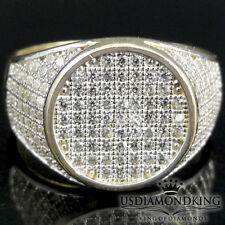 MEN'S NEW 10K 100% REAL YELLOW GOLD A++ CZ'S PINKY WEDDING RING BAND SIZE 10.5