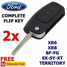 2x FORD 3 Button Transponder Remote Flip Key  BF FG Falcon Territory Mondeo FPV