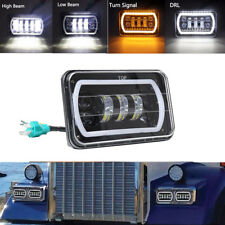 4 x 6 Inch LED Headlight Square Bulb Hi/Low Sealed Beam  Anti Flicker White DRL