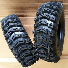 TWO 4.10-6 410x6 410-6 TIREs Lawn Garden Tiller Snow Blower Thrower R-1 Lug 2ply