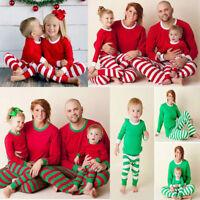 3f4ddadedc Christmas Family Matching Pajamas Set Women Man Nightwear Parent-Kid  Sleepwear