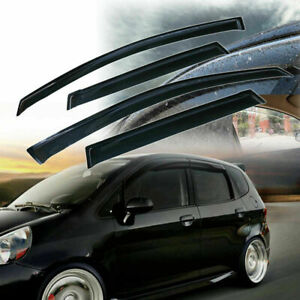 For Honda Fit 2007-2008 Smoke Window Visors Sun Vent Rain Guard Deflector Shade