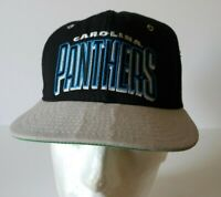 Vintage 90's Carolina PANTHERS Team NFL AJD SnapBack HAT Cap