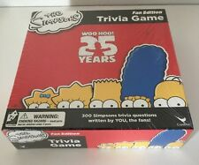 THE SIMPSONS Fan Edition TRIVIA GAME WOO HOO 25 YEARS, New - Opened