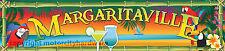 """Margaritaville Garage Game Room Bar Tiki Hut Banner 32"""" X 140"""" Large Size"""