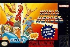 World Heroes (Super Nintendo Entertainment System, 1993) SNES GAME ONLY NES HQ