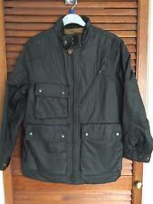 GAP KIDS Brown Coated Faux Leather Lined Showerproof Jacket Age 8