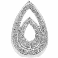 Silver Double Teardrop With Crushed Diamante Bling Decorative Sculpture 36cm