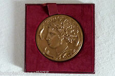 Médaille poinçon bronze ('corne d'abondance) profilL Grecque Antique