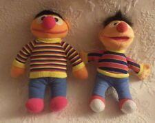 "Fisher Price Sesame Street Lot of 2 Ernie Plush Stuffed Animal 10"" Tall"