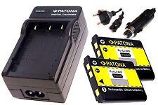 Ladegerät und 2 * Akku Batterie Accu im SET für Praktica NP45 / NP-45