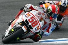 POSTER MARCO SIMONCELLI 58 DUCATI MOTORCYCLE MOTO GP RACE HONDA YAMAHA DUCATI #2