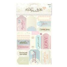 Papermania 'Vintage notas' Troquelado sentimientos * Free Uk P + P *