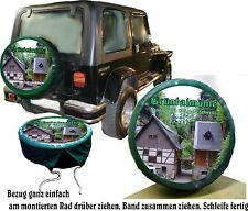 Leur Photo et Texte - Dessin Auto-Jeep Pneu de rechange Référence Idee cadeau