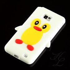 Samsung GALAXY s2 i9100 Case in TPU Silicone Custodia Cellulare Guscio Protettivo Pinguino Bianco