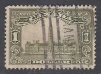 "Canada Scott #159  $1.00 olive green Parliament Building ""Scroll""  F *"
