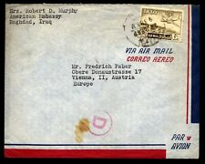 Iraq  1950's cover U.S. Embassy staff unflattering letter of Baghdad & Iraqis