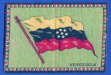 Early 1900's Tobacco Felt Country Flag Venezuela