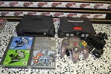 N64 Console + Nintendo 64DD 64 DD Japanese Import System w/4 GAMES 100% Working