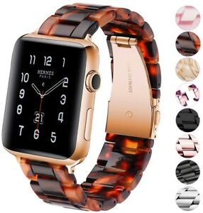Luxury Resin Band Strap For Apple Watch Series 6 5 4 3 2 1 38 / 40 / 42 / 44 mm