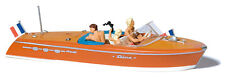 Preiser Motorboat with Crew x 2 10689 HO Scale (suit OO also)
