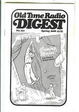 OLD TIME RADIO DIGEST #121, Spr/08 rare US digest mag, FDR Coming Major